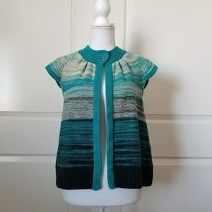 Westbound Womens Sz S Short Sleeve Ombre Cardigan